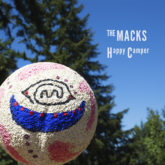 The Macks Happy Camper EP cover, art by Angie Windheim and Sam Fulwiler