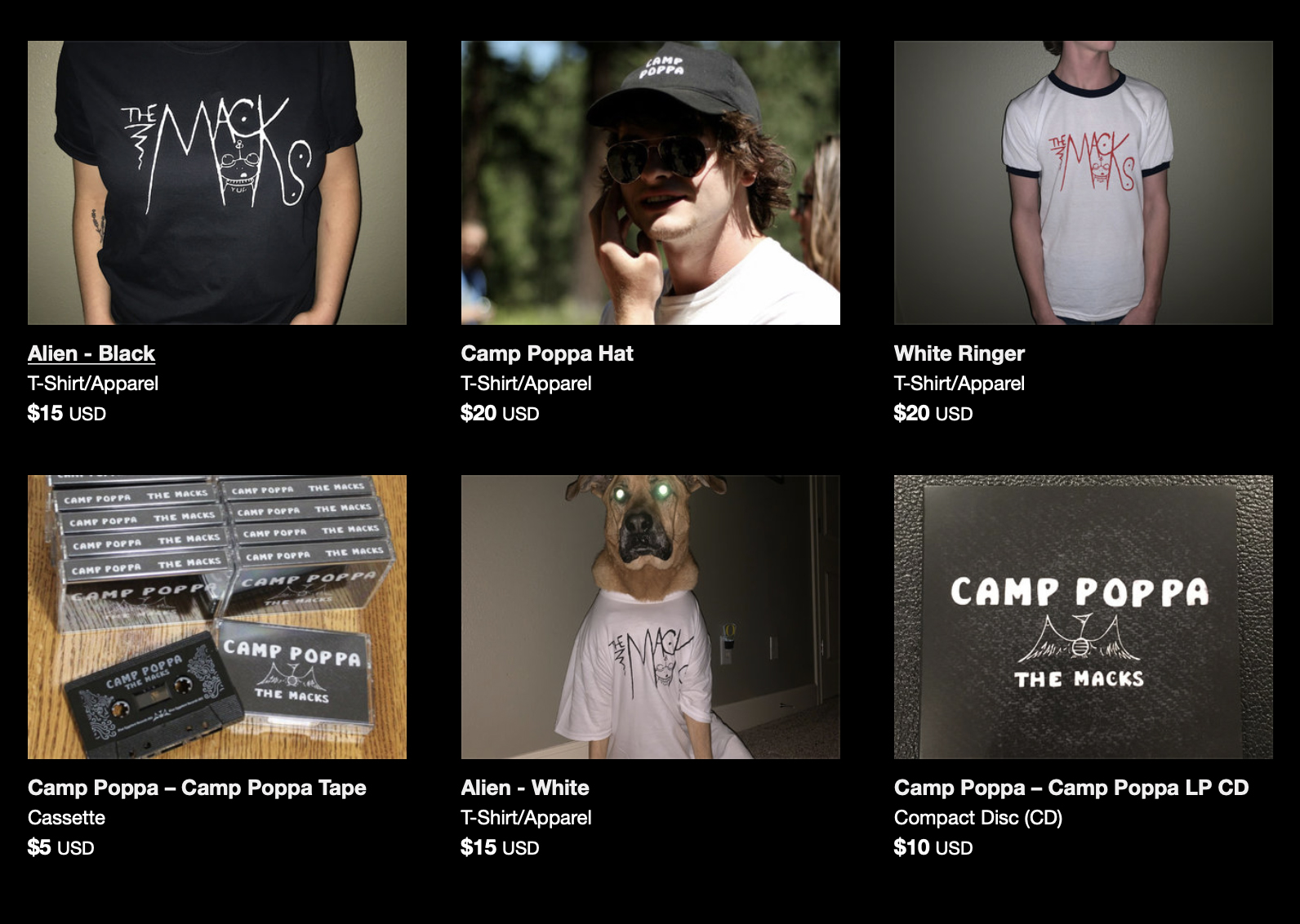 The Macks shirts, CDs, tapes, hats for sale at Bandcamp