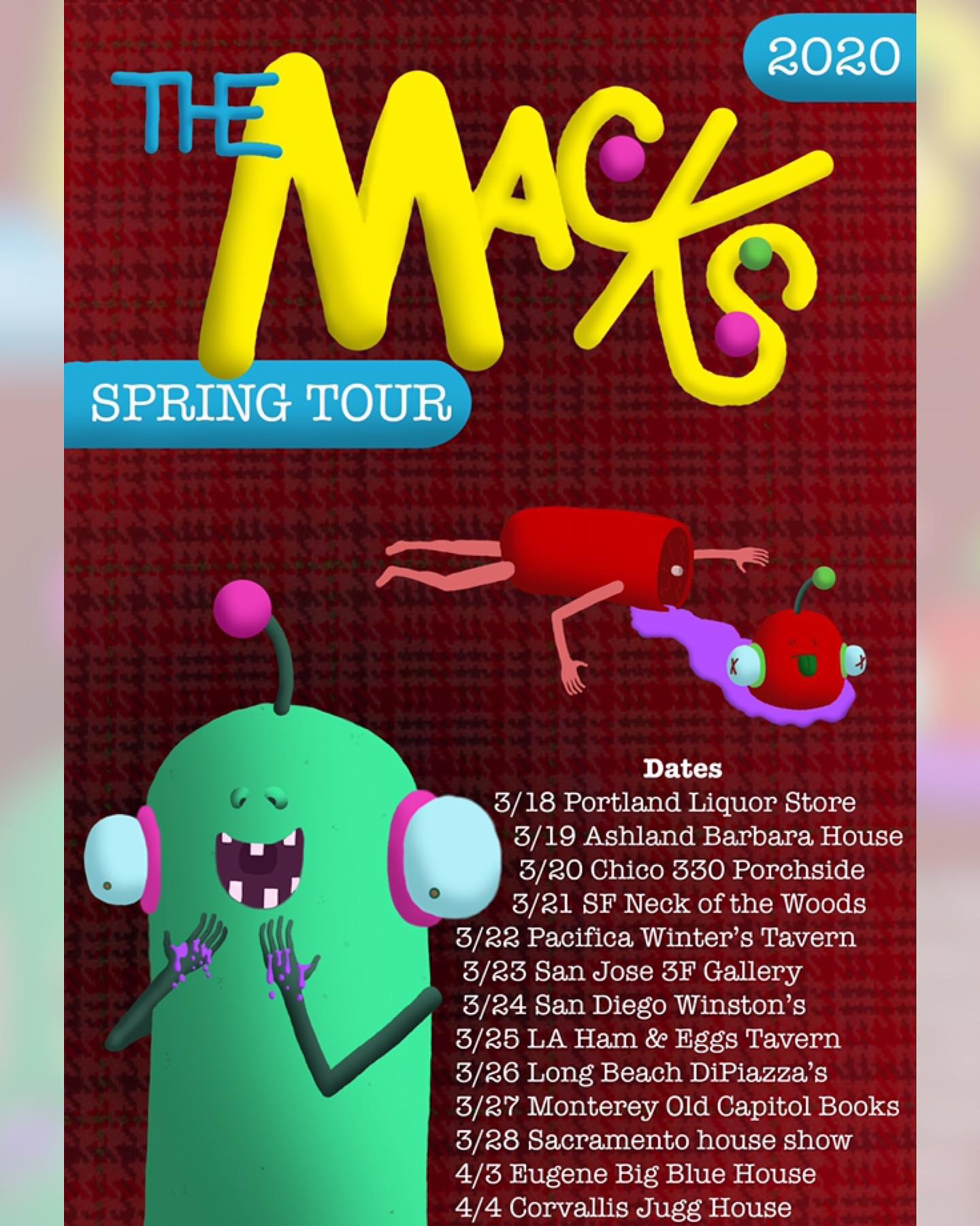 The Macks Spring Tour dates